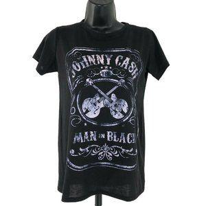 Zion Rootswear Johnny Cash Man In Black T-Shirt
